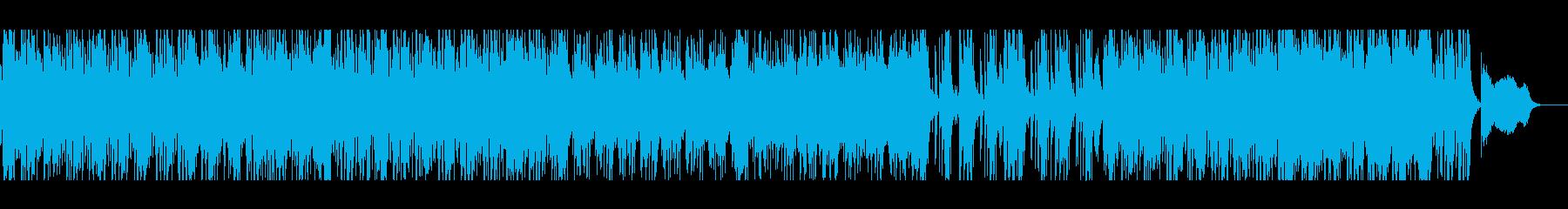 緊張とスピード感を演出する劇伴系バンド曲の再生済みの波形