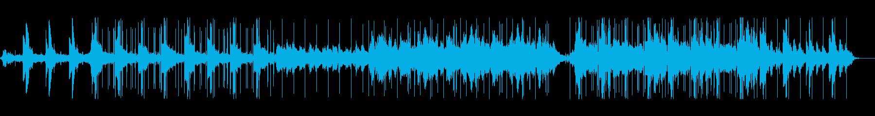 リラックスローファイBGMの再生済みの波形