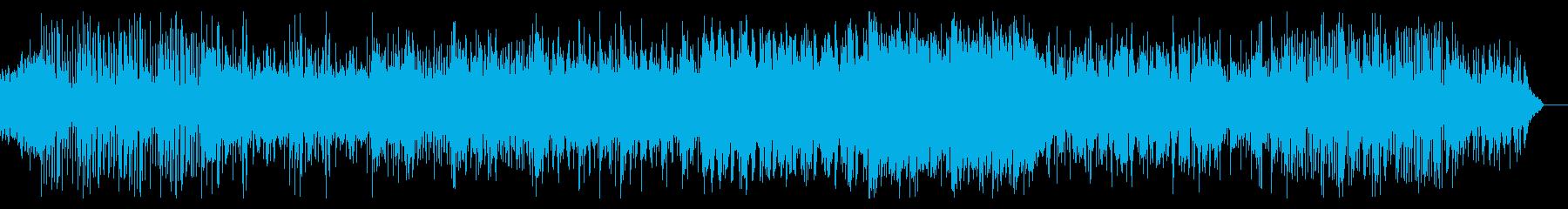 ブレイクビートの緊迫したBGMの再生済みの波形