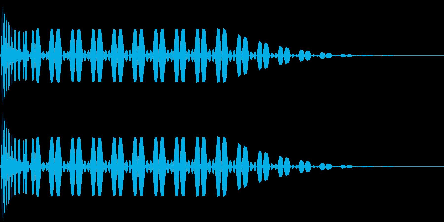 キック/ドラム/デジタル/Key-Fの再生済みの波形