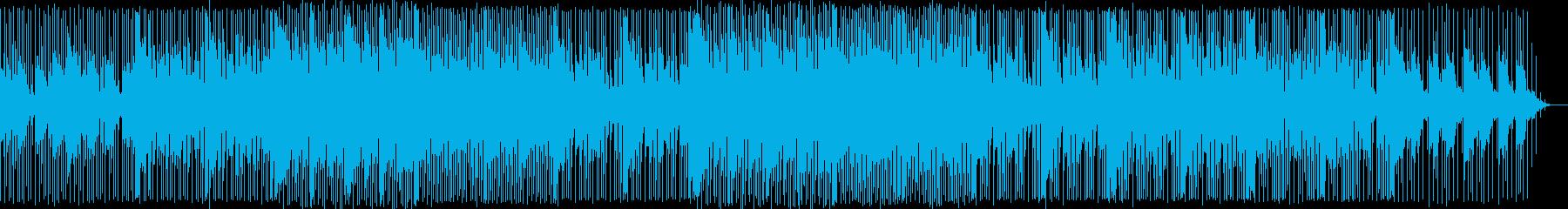 ユーモラスで元気な感じのBGMの再生済みの波形