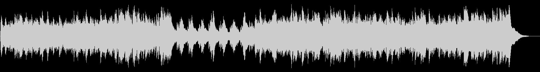静かな冬のイメージのピアノのBGMの未再生の波形