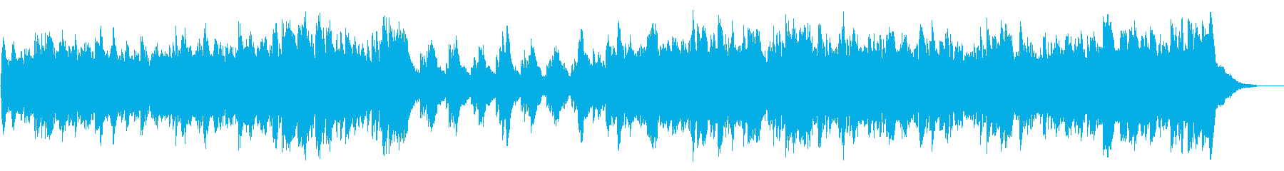 静かな冬のイメージのピアノのBGMの再生済みの波形