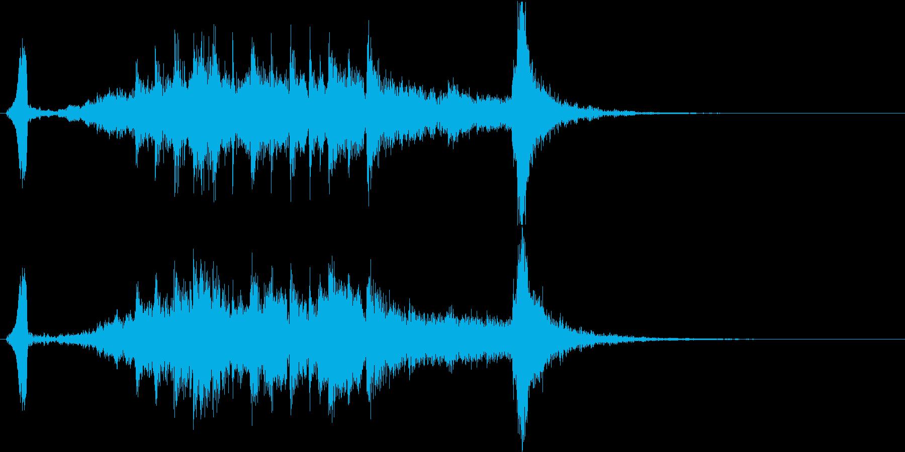 粋で雅、勢いのある和風サウンドロゴの再生済みの波形