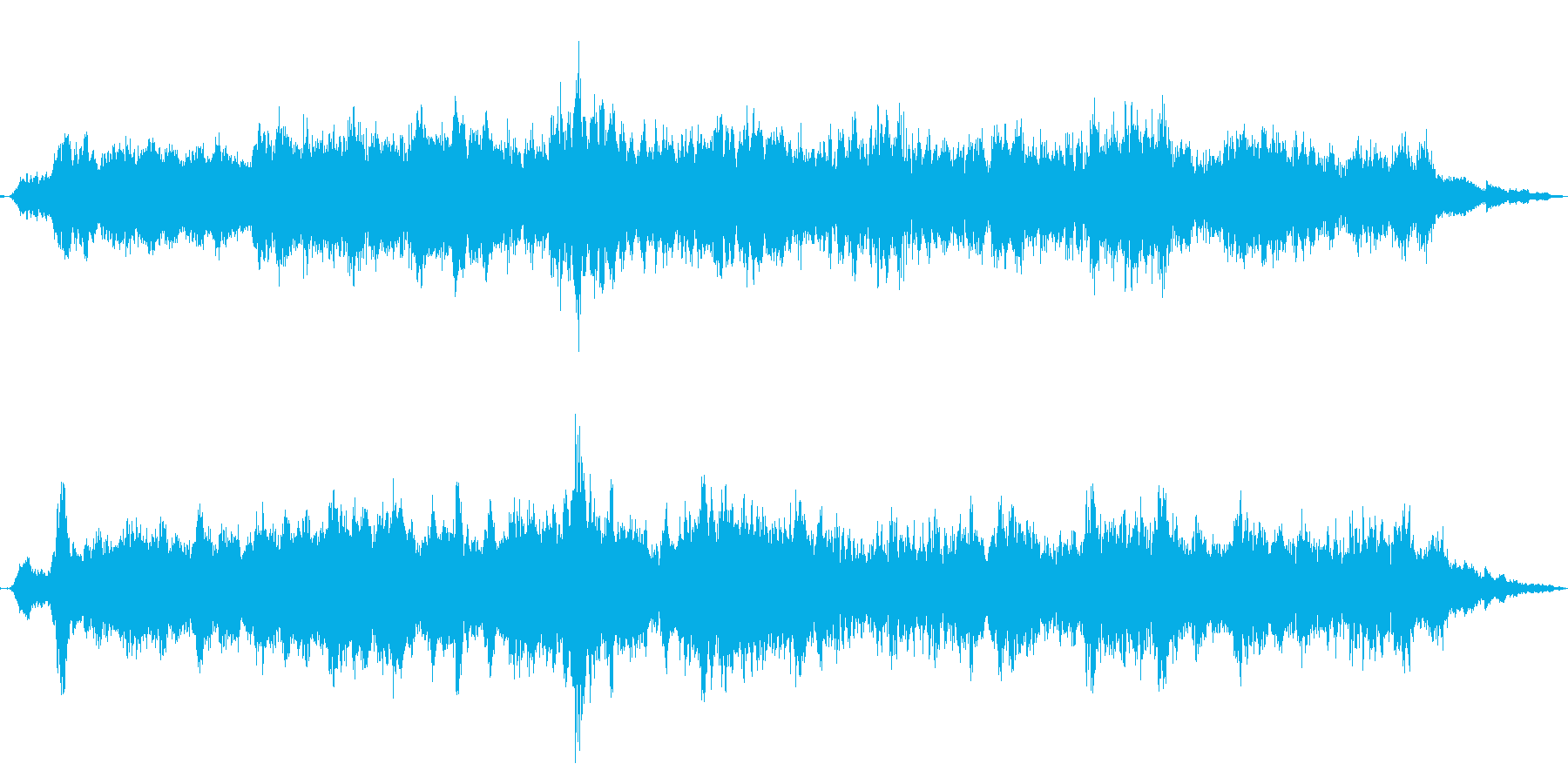 ピッチの緩やかな加速を伴うツイスト...の再生済みの波形