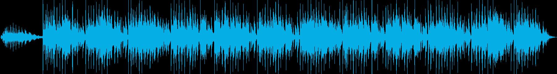 生演奏アコースティックギターハーモニクスの再生済みの波形