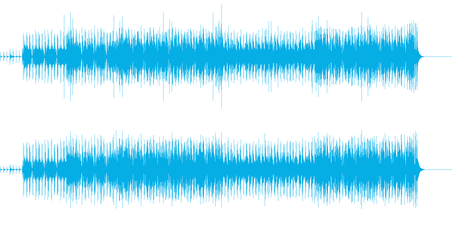 軽快でいなせなボサノヴァ・サウンドの再生済みの波形