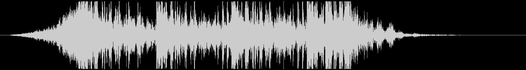 壮大で激しいリズムのサウンドロゴA(長)の未再生の波形