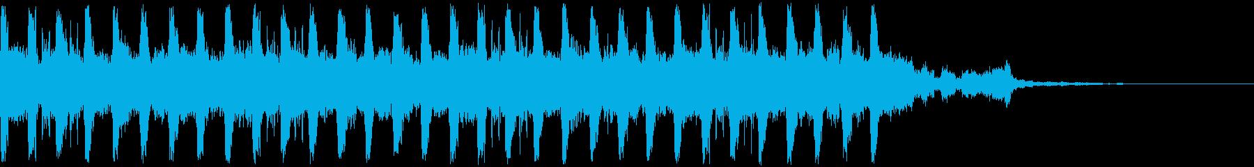 車やスポーツCMやエキサイティングな映像の再生済みの波形