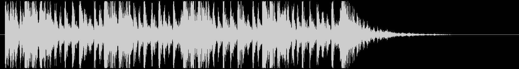 和太鼓のフレーズ1。残響なしBPM136の未再生の波形