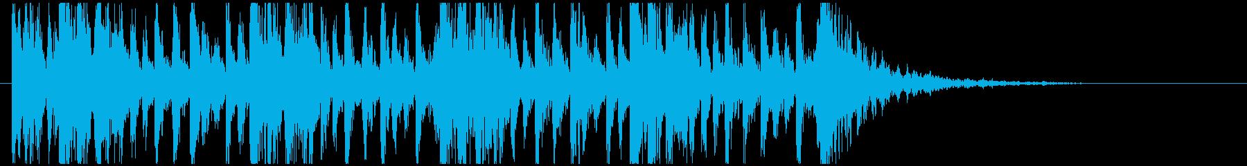 和太鼓のフレーズ1。残響なしBPM136の再生済みの波形
