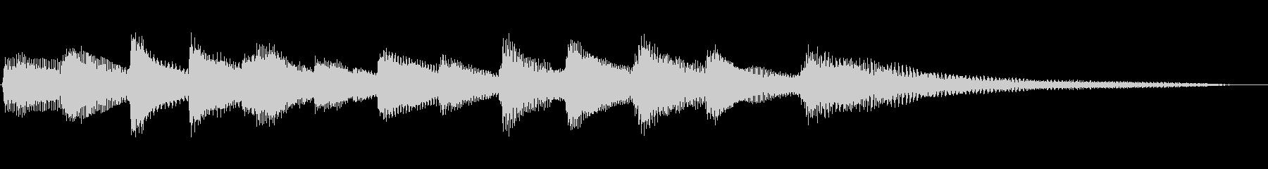 テーマ発表にも使えるピアノのジングルの未再生の波形