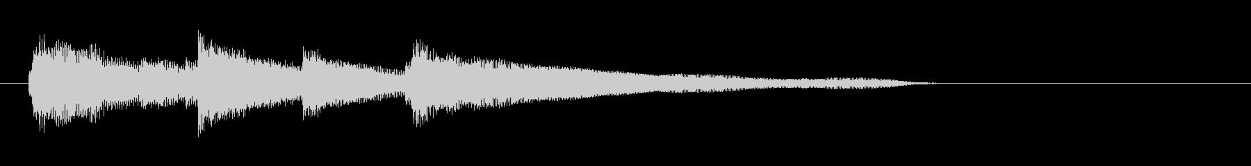 【サウンドロゴ】シンプルなピアノジングルの未再生の波形