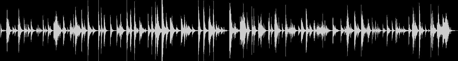 迷い道をイメージしたピアノソロの未再生の波形