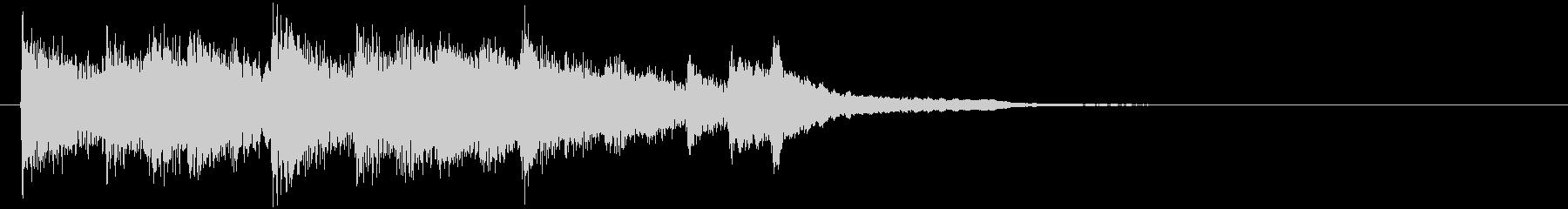 シンプルなピアノジングル/場面転換の未再生の波形