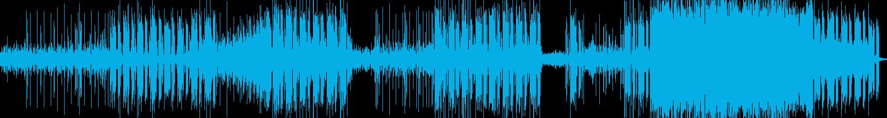 シンセサイザーとベースが織りなすテクノの再生済みの波形