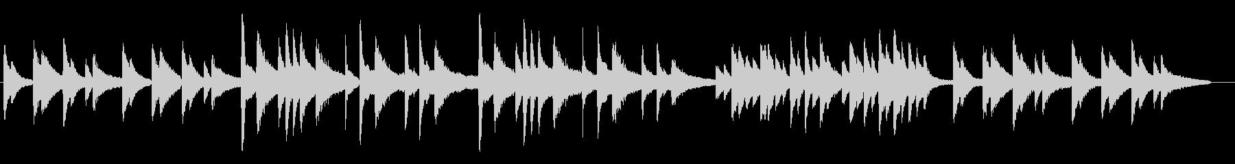 ピアノ生演奏曲 サティのジムノペディ風の未再生の波形