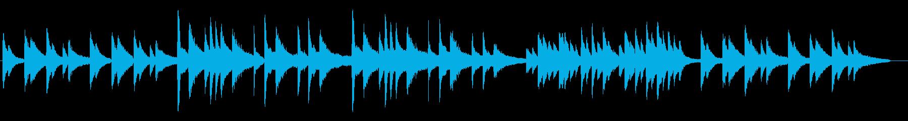 ピアノ生演奏曲 サティのジムノペディ風の再生済みの波形