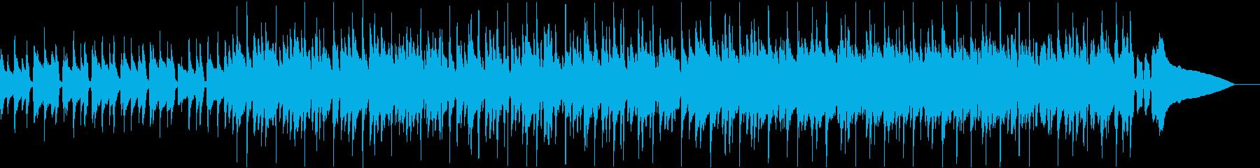 ウクレレやアコースティック楽器が演...の再生済みの波形