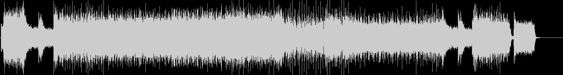 激しいギターソロのロックBGMの未再生の波形