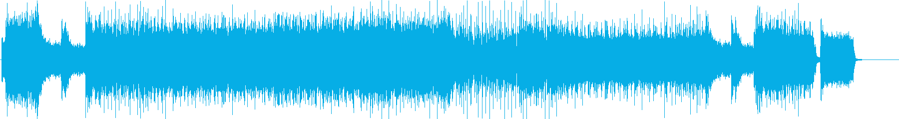 激しいギターソロのロックBGMの再生済みの波形