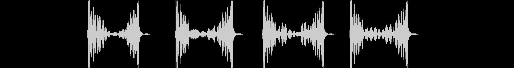 スクラッチ1high(ズクズクズクズク)の未再生の波形