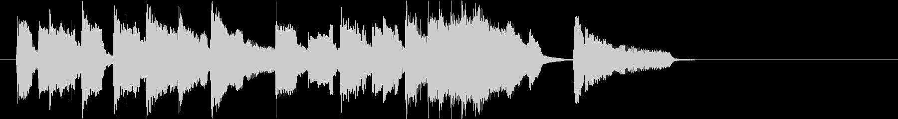 アコギと笛の牧歌的ジングル(15秒)の未再生の波形