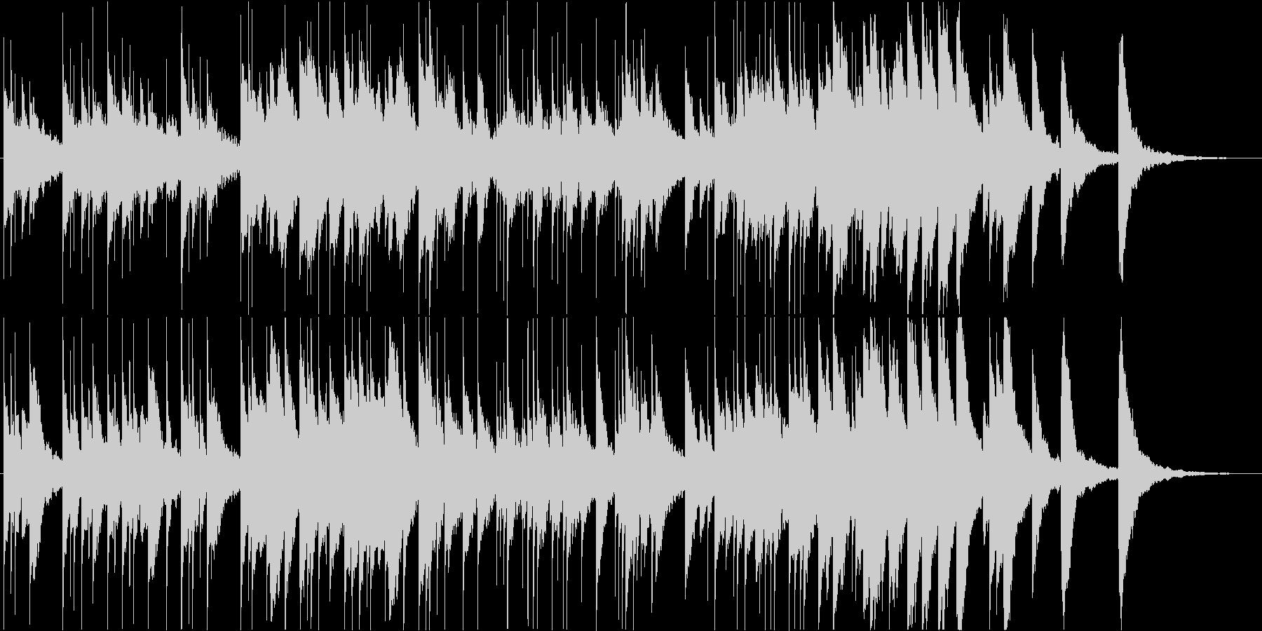 切なく温かいオルゴールの未再生の波形