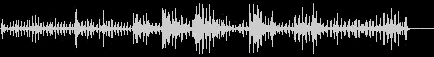ピアノがキラキラ輝くBGMの未再生の波形