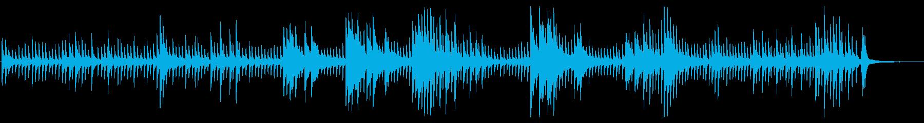 ピアノがキラキラ輝くBGMの再生済みの波形