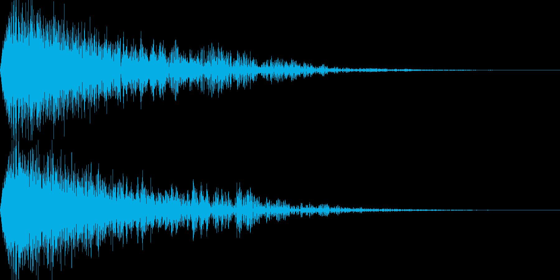魔法系の太い下降音の再生済みの波形