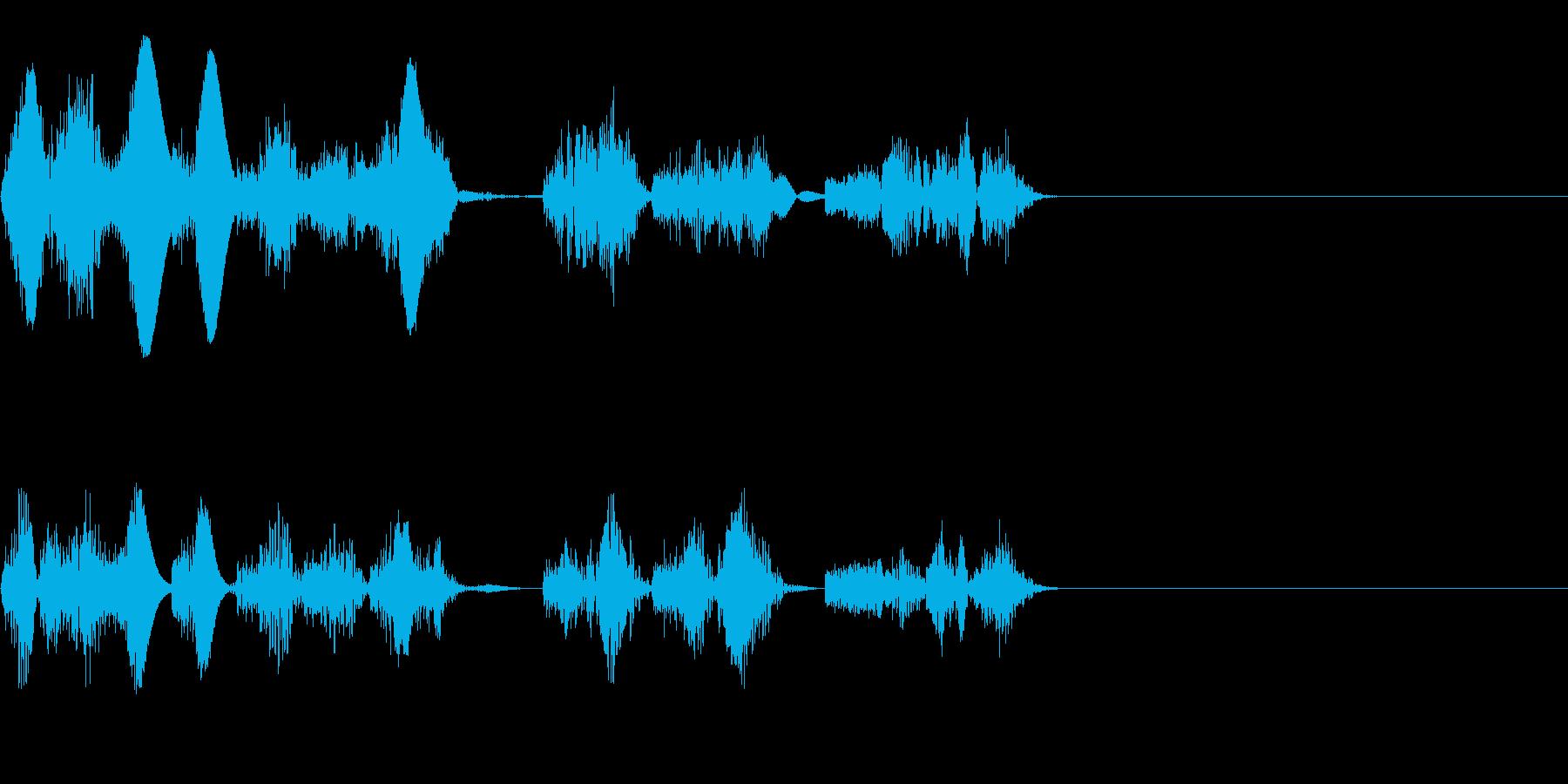 ロボットやエイリアンの発声音にの再生済みの波形