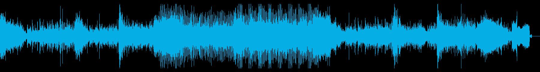 機械を使った水中戦のような映画風BGMの再生済みの波形