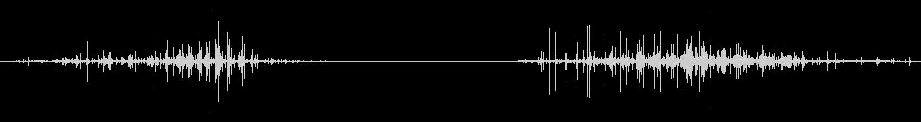 エイリアンの声のスイープ、2回、悪...の未再生の波形