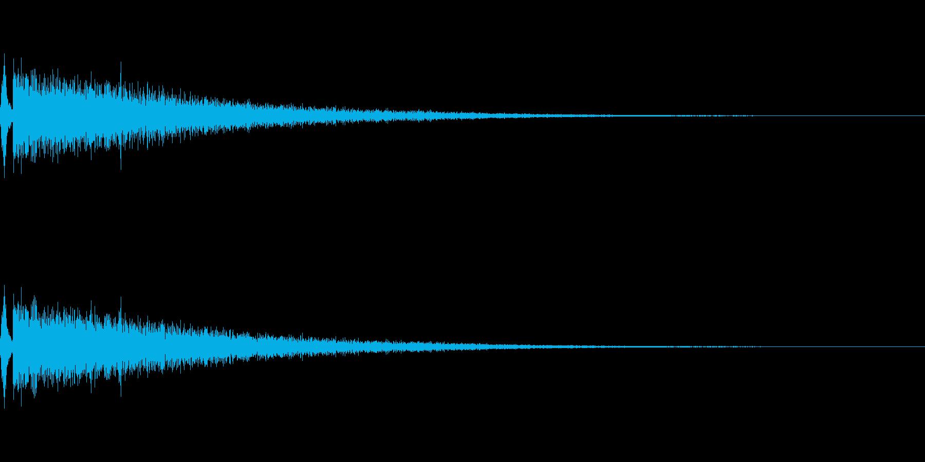 戦隊もの変身シーンの効果音シャキーン!の再生済みの波形