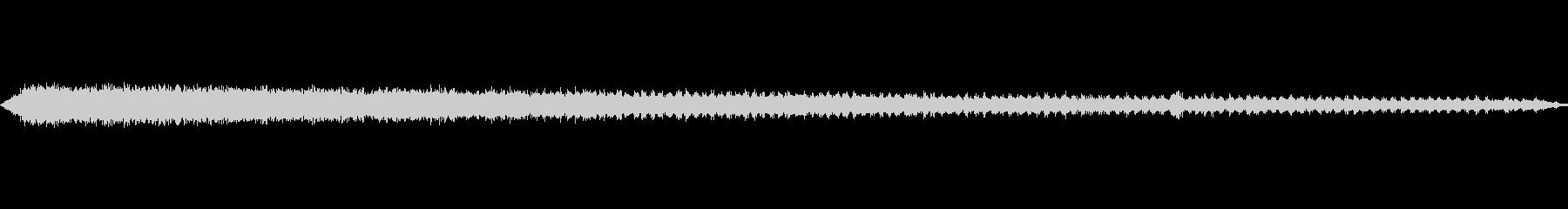 ジージー鳴くセミの声の未再生の波形