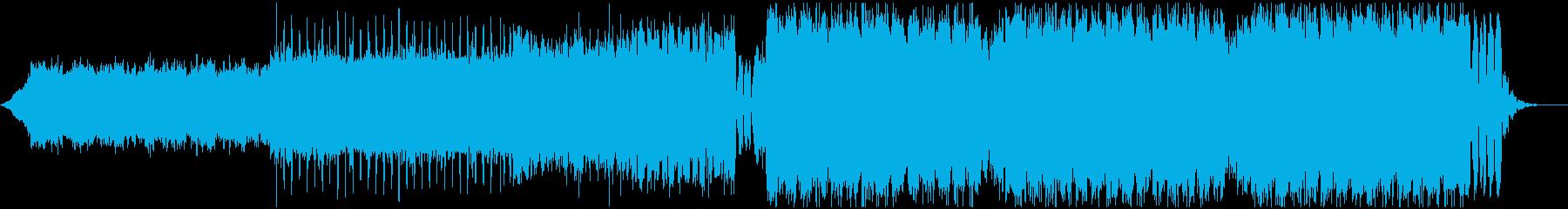 シンセ主体のキレイめで煌びやかなEDMの再生済みの波形