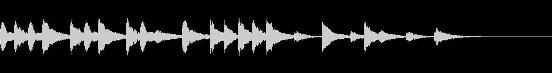 マリンバジングル10 のんびり ほのぼのの未再生の波形