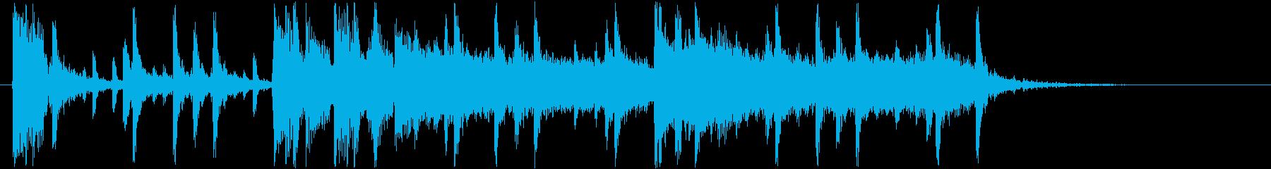 緩やかでシンプルなロックジングルの再生済みの波形