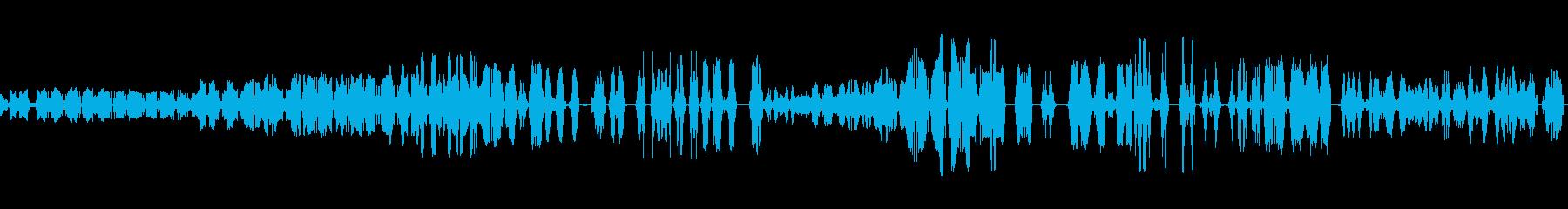 テープ巻き戻しの再生済みの波形