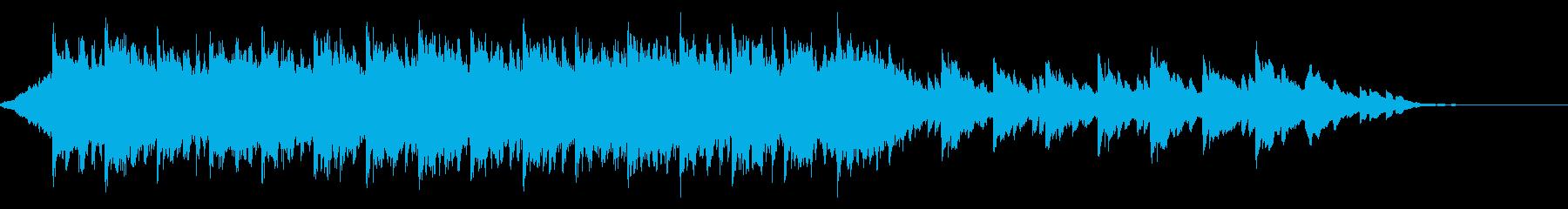 ウェディング<60秒CM>落ち着いた映像の再生済みの波形
