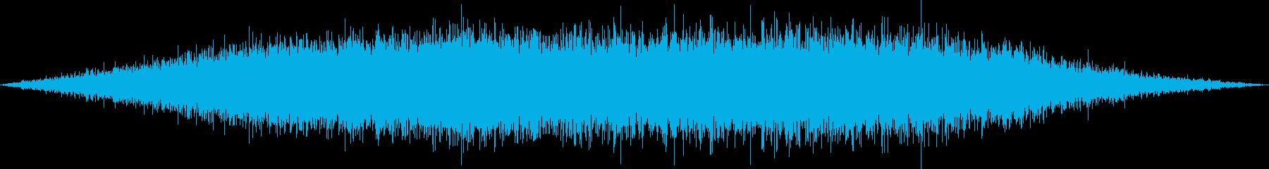 新幹線発車の再生済みの波形