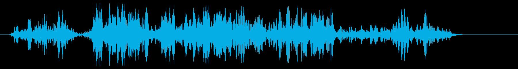 キュルキュル(ロープが巻き取られる音)の再生済みの波形