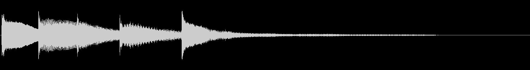 ピアノソロのジングル 通知音の未再生の波形