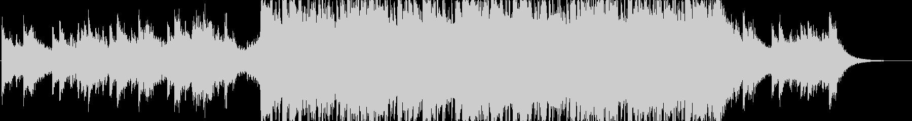 メロディアスで綺麗な印象のドラムンベースの未再生の波形