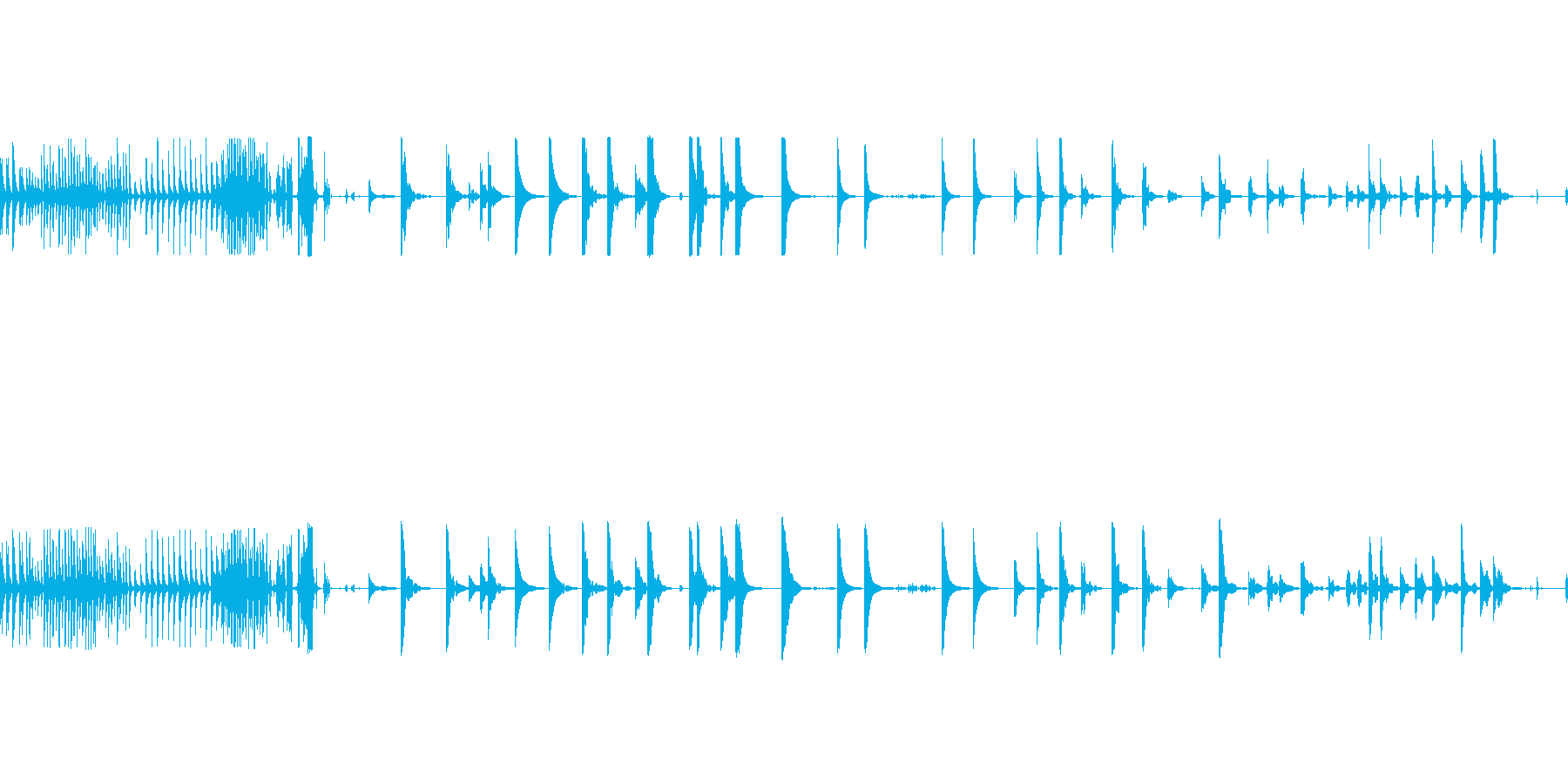 ベルテンプルリングマルチjの再生済みの波形