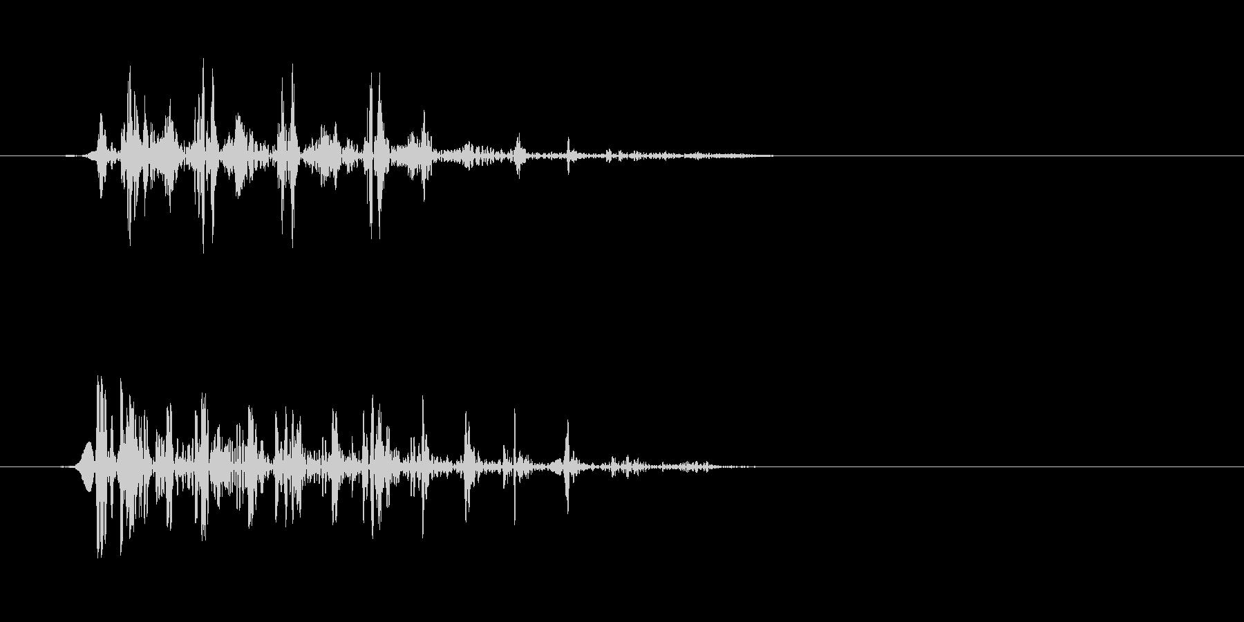 グワ、っというアヒルの鳴き声の未再生の波形