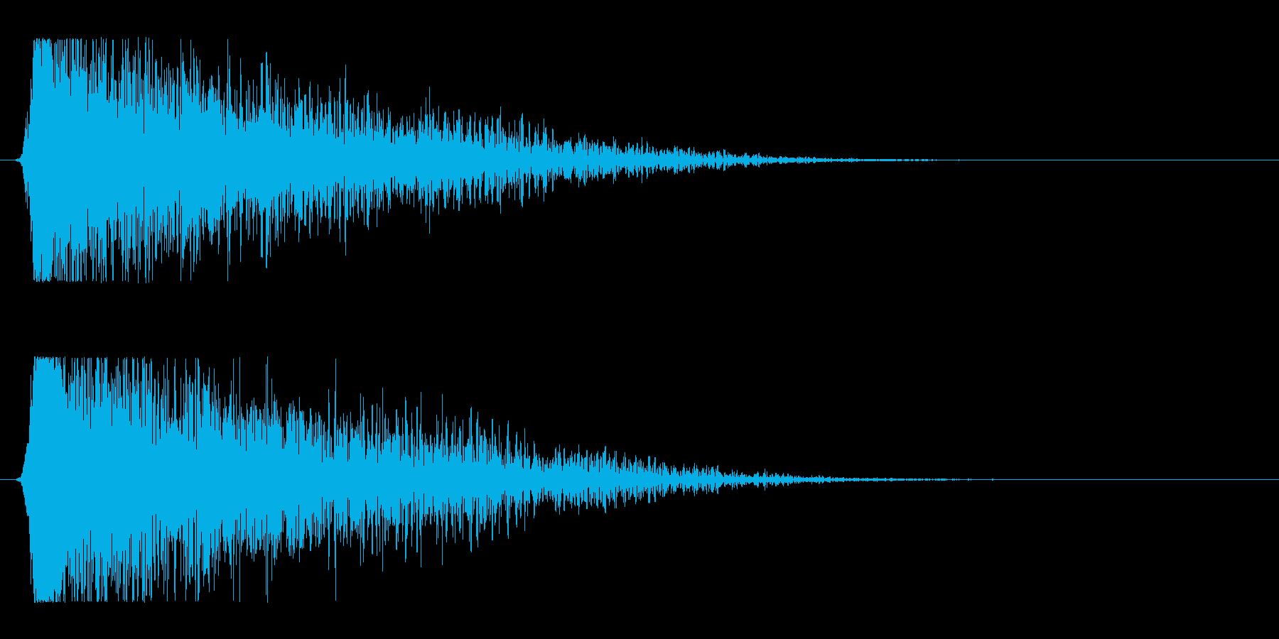 シュードーン-15(インパクト音)の再生済みの波形