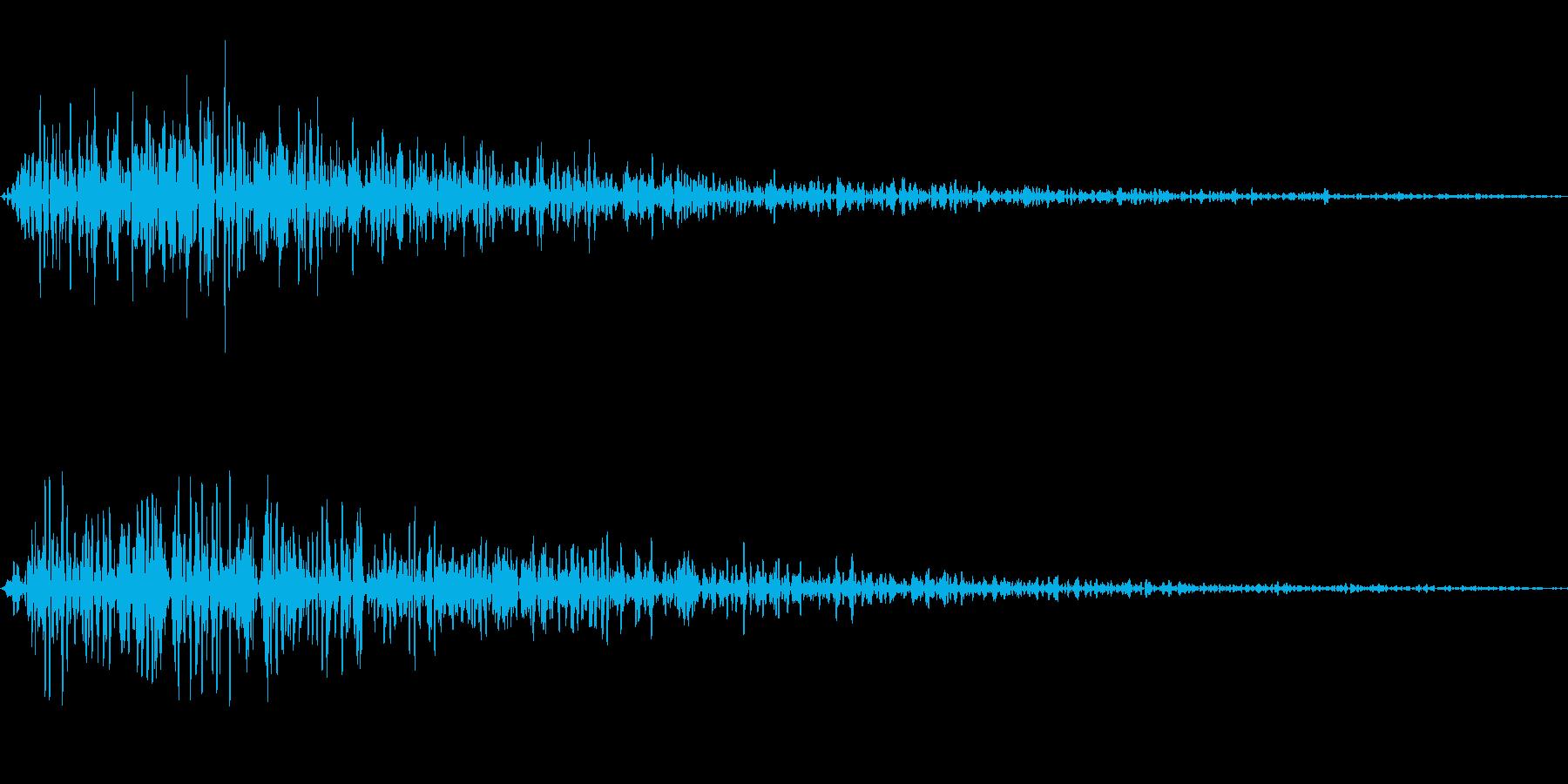 キャンセル、エラー、戻る SEの再生済みの波形
