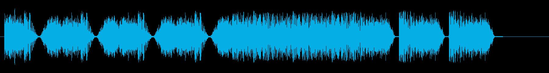 スタッタードシグナル干渉スイープ4の再生済みの波形